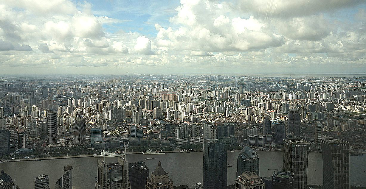 Vue of Shanghai from Pudong